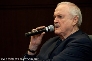 LOS ANGELES, CA - NOVEMBER 21: Actor John Cleese discusses his new book 'So, Anyway' at Barnes & Noble bookstore at The Grove The Grove on November 21, 2014 in Los Angeles, California. (Photo by Kyle Espeleta/FilmMagic) *** Local Caption *** John Cleese